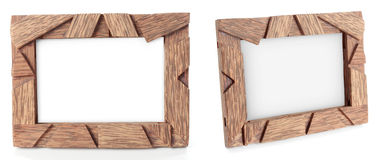 Photo of wood frame for a picture Royalty Free Stock Images