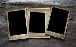 Photo on wooden background Stock Photos