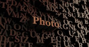 Photo - Wooden 3D rendered letters/message Stock Image