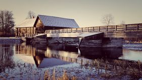 Photo of Wooden House Near the River Royalty Free Stock Photo