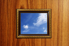 A photo of a wooden picture frame Stock Photography