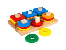 Photo of a wooden toy royalty free illustration