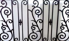 Photo of wrought iron black curved steel.  Royalty Free Stock Image