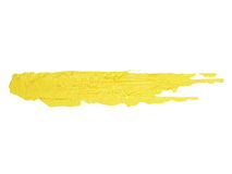 Photo yellow grunge brush strokes oil paint isolated Stock Image
