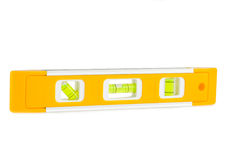 Photo of yellow spirit level isolated on white background Stock Photo