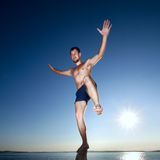 Photo of young acrobat man Royalty Free Stock Image