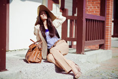 Photo of a young beautiful woman Royalty Free Stock Photography