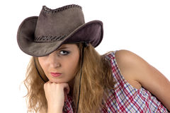 Photo of young cowgirl Stock Image