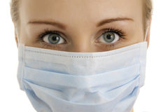 Photo of young doctor`s face.. Stock Images