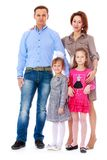 Photo of a young family. Royalty Free Stock Images