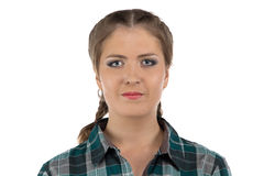 Photo of young farmer woman Stock Photography