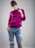 Photo of young fashion woman Stock Photos