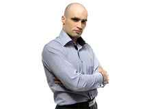 Photo of young hairless business man Royalty Free Stock Images