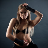 Photo of the young sensual woman Royalty Free Stock Photos