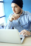 Photo young and talente finance manager working with new project. Royalty Free Stock Image