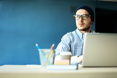 Photo young and talente finance manager working with new project. Stock Images