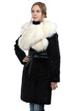 Photo of the young woman in fur coat Stock Image