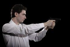 Photo Yuong Man With Gun Royalty Free Stock Photography