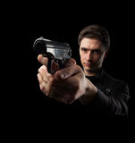 Photo Yuong Man With Gun Stock Photography