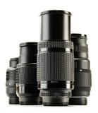 Photo zoom lenses on white background Royalty Free Stock Photos
