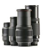 Photo zoom lenses on white background Stock Images