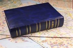 Photoalbum azul imagen de archivo libre de regalías
