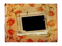 Photoalbum de la vendimia para las fotos Fotos de archivo