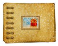 Photoalbum del vintage para las fotos con las cajas de regalo Foto de archivo libre de regalías