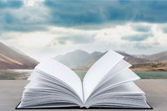 Photobook. Photo album holiday summer book closeup Royalty Free Stock Photography