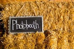 Photobooth婚礼标志 库存图片