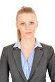 Photobooth-Porträt einer Geschäftsfrau Stockbild