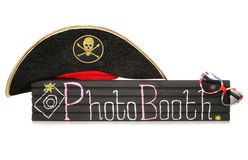 Photobooth Sign With Pirate Hat And Sunglasses Royalty Free Stock Image