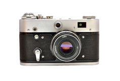 Photocamera antiquado sujo usado velho da película Foto de Stock Royalty Free