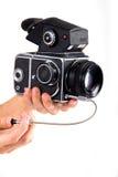 Photocamera auf dem weißen backgound lizenzfreie stockfotos