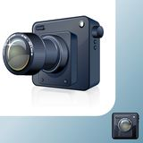 Photocamera Design Icon. 3D Vector Image Stock Photos