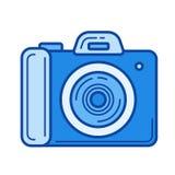 Photocamera line icon. Royalty Free Stock Photography