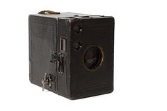 photocamera odosobniony stary biel Zdjęcie Stock