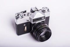 Photocamera pasado de moda sucio usado viejo de la película Imagen de archivo libre de regalías