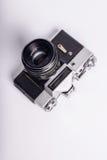 Photocamera pasado de moda sucio usado viejo de la película Foto de archivo libre de regalías