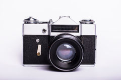 Photocamera pasado de moda sucio usado viejo de la película Foto de archivo