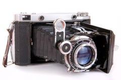 Photocamera piegante dell'annata Fotografia Stock Libera da Diritti