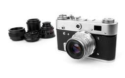 Photocamera retro Fotos de Stock Royalty Free