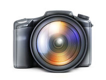 Photocamera view front Stock Images