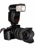 Photocamera z photoflash Zdjęcia Stock