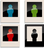photocard för fyra man Royaltyfria Bilder