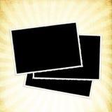 Photocards auf Weinlesehintergrund. lizenzfreie abbildung