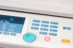 Photocopier. Keyboard of a grey photocopier Stock Photo