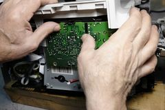 Repair of the copier royalty free stock photography