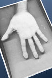 Photocopy of hand. Black and white Photocopy of hand, concept of soul or spiritual communication Stock Photos