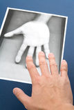 Photocopy of hand Royalty Free Stock Photography